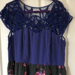 American Eagle Crochet Floral Dress